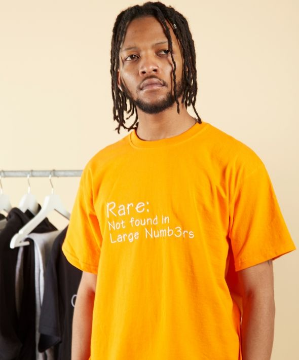 Orange Rare Definition T-shirt With White Embroidery Logo