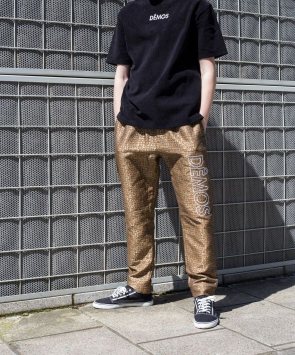 Demos Gold big logo trousers