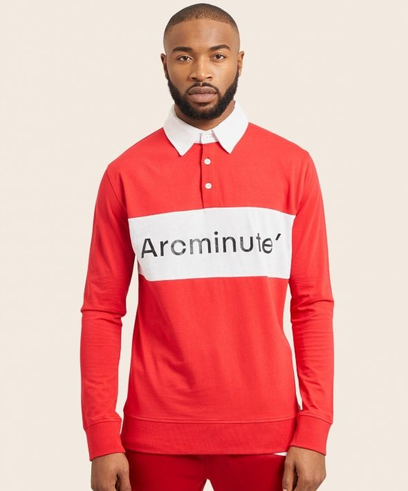 Arcminute Chest Panel Ruby Shirt Red
