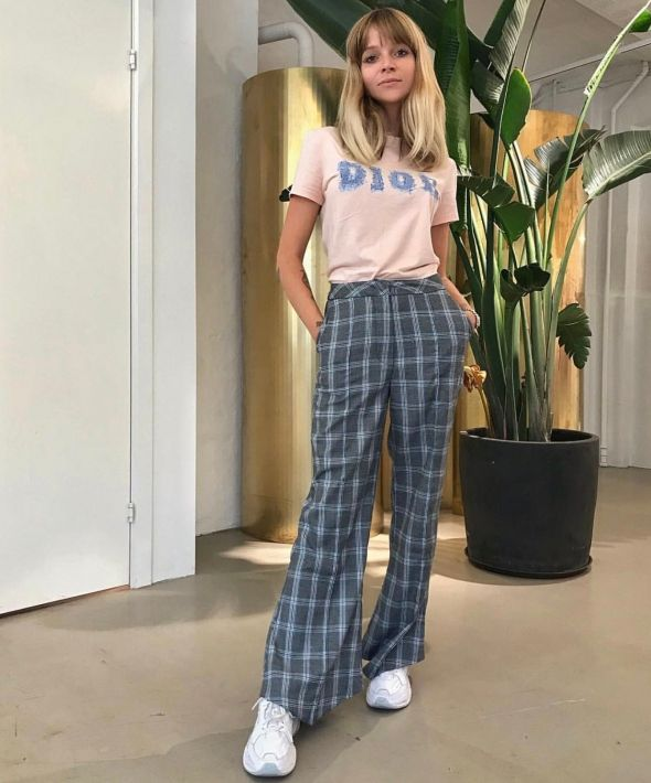 Slim Tailored Trousers in Academic Check