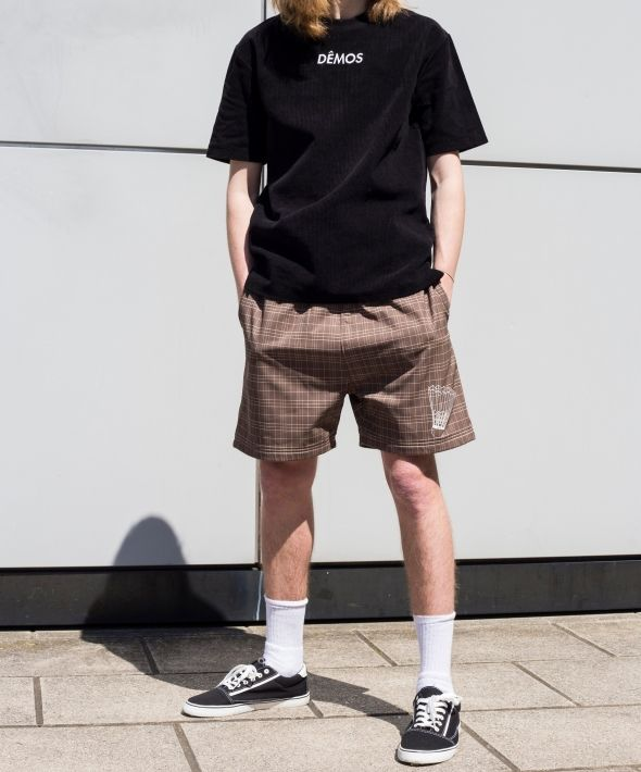 Demos brown badminton shorts