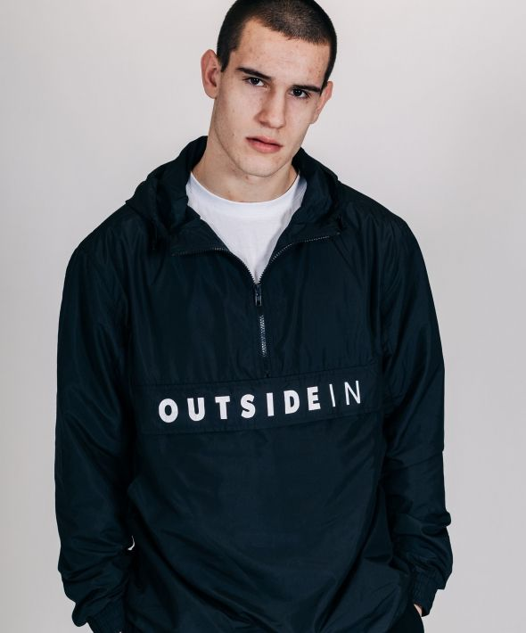 OUTSIDEIN HALF ZIP JACKET BLACK