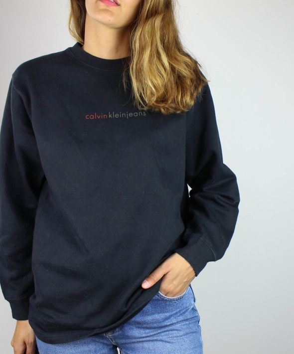 93a0ae57a6fb Vintage Calvin Klein Sweatshirt with Spell Out Logo 4365163