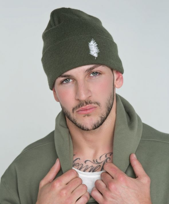 PINNA Script Beanie - Forest Green