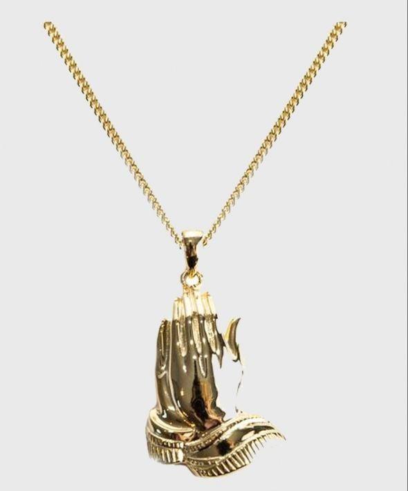 Gold Praying Hands Necklace