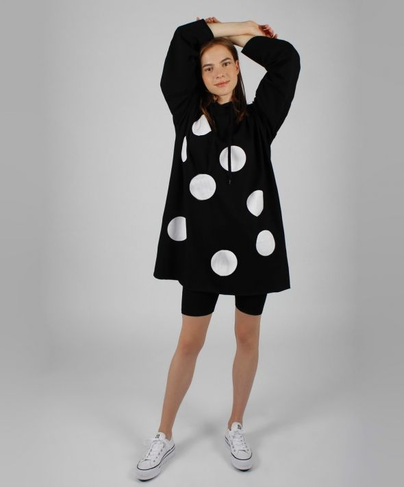 Polka Dot Hoodie Dress