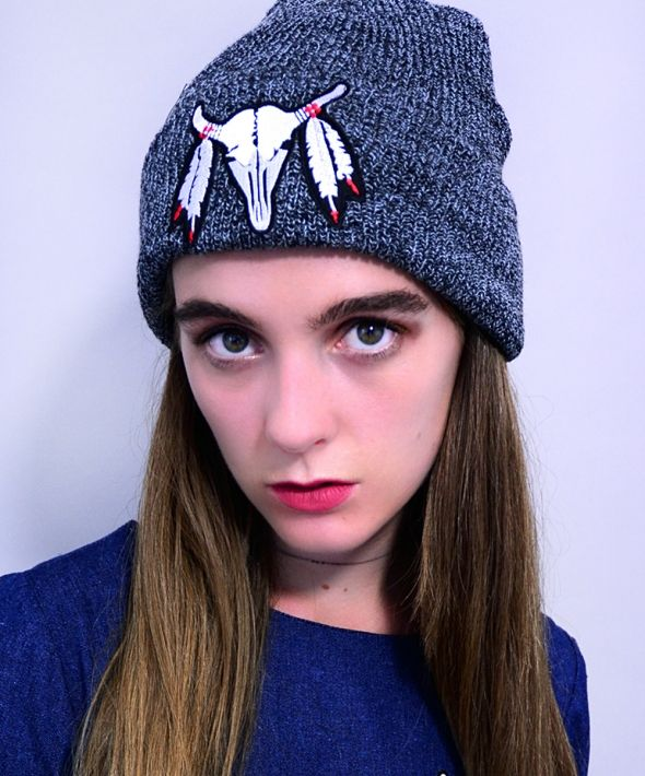 Buffalo Patch Beanie
