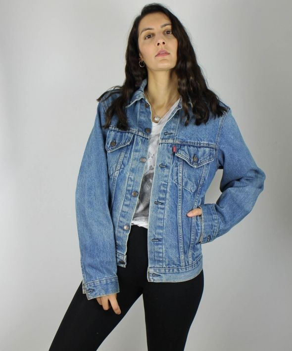 Vintage Levi's Denim Jacket with Red Tab Logo