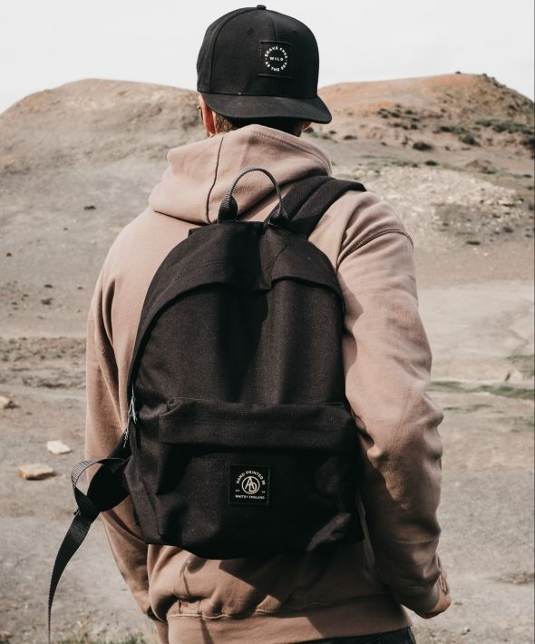 Insignia Logo Black Backpack