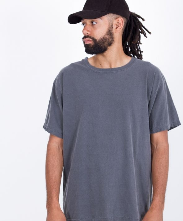 Vintage Wash Dark Faded Grey Tee