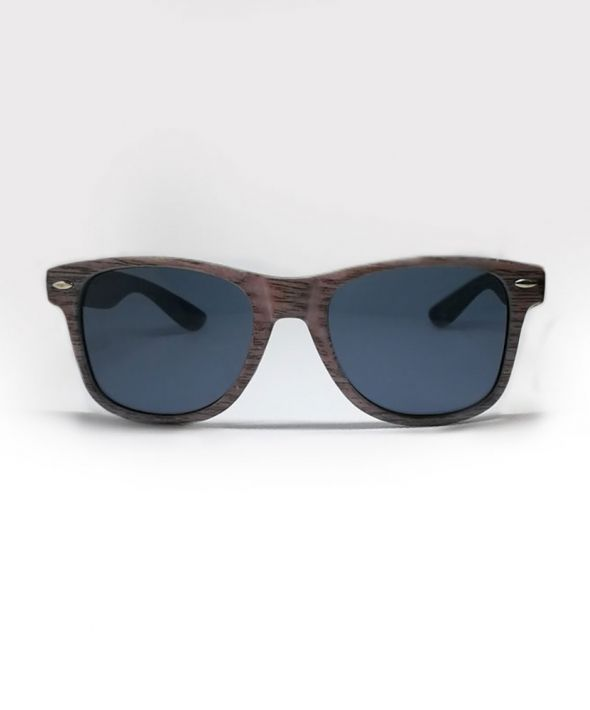 BUDDY Wood Effect Sunglasses - Grey