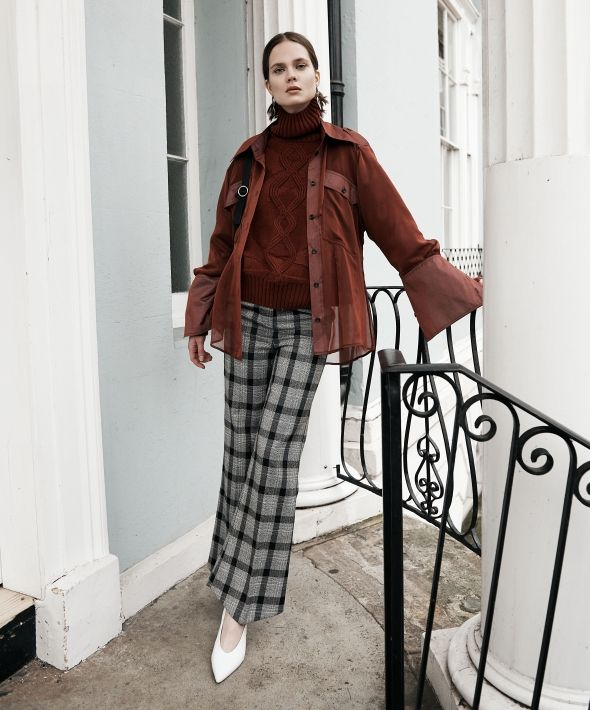 Slim Tailored Trousers in Everyday Check