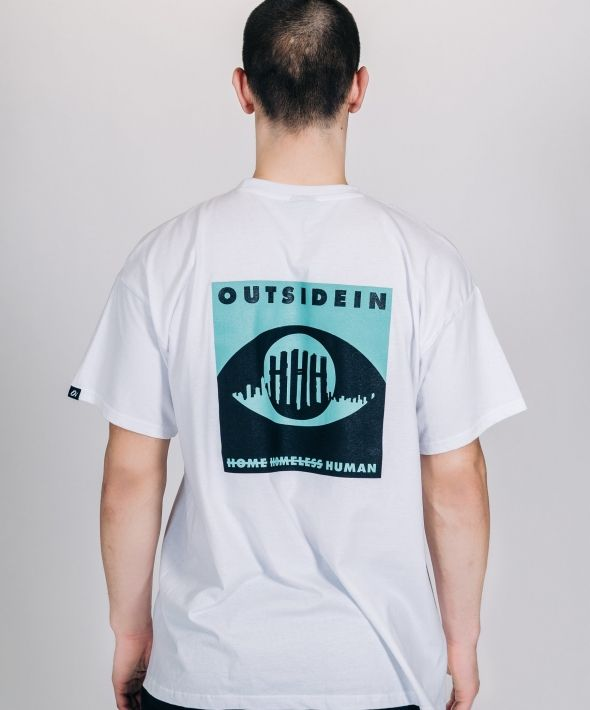 OUTSIDEIN GREEN AND WHITE T-SHIRT