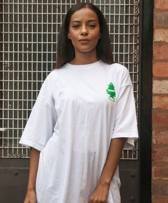 White Fresh To Death Oversized T-Shirt
