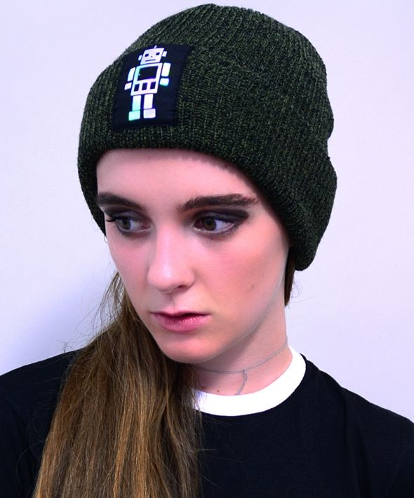 Holographic Robot Beanie