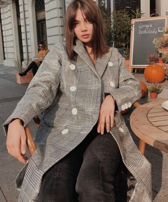 Long Tailored Nostalgia Trench Coat in Check