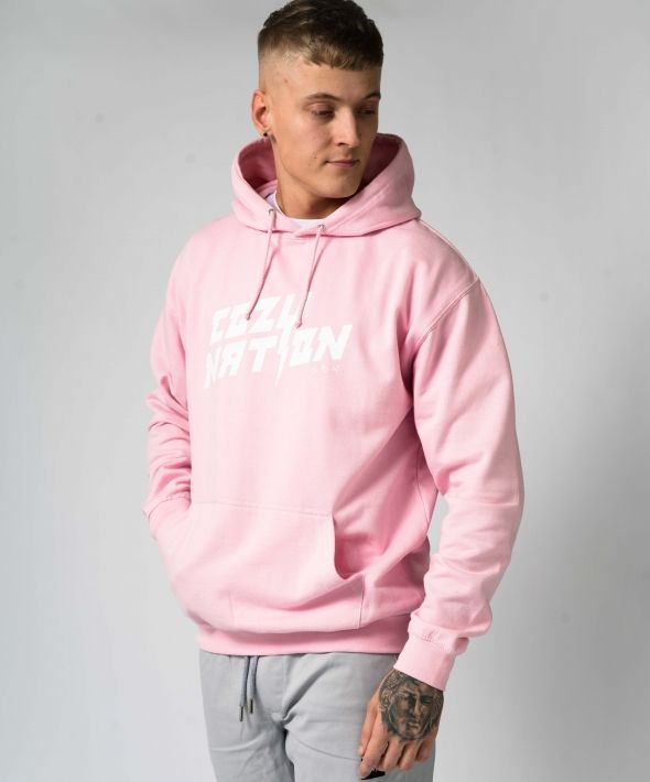 Baby Pink Oversized Essential Hoodie
