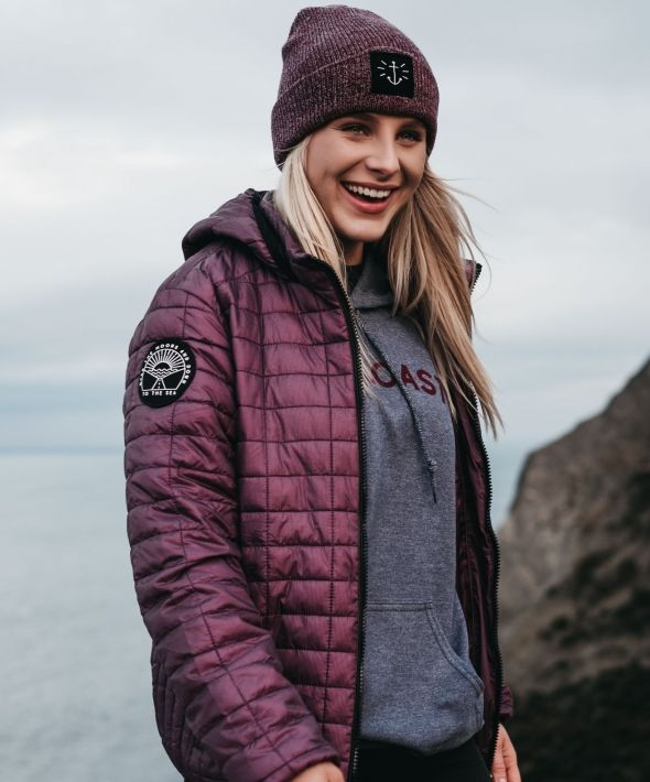 Over The Moors Hooded Quilted Puffer Jacket