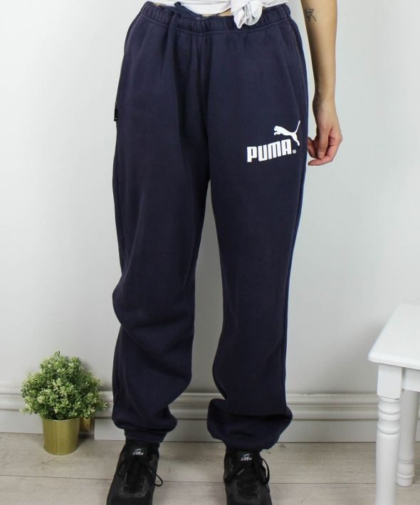 Vintage Puma Joggers Sweatpants with Logo Front & Back