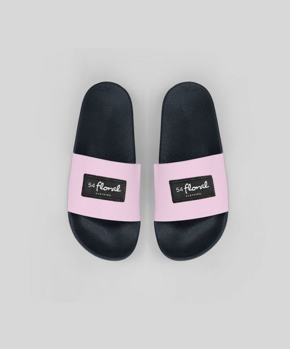 54 Floral Supreme Pool Sliders - Pink