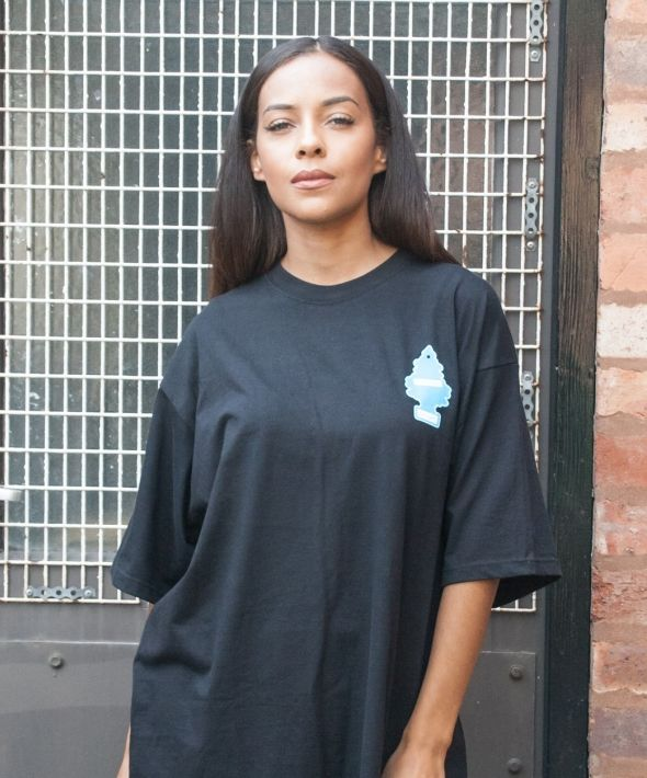 Black Fresh To Death Oversized T-Shirt