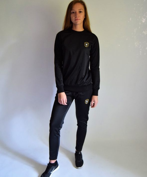 Heritage Black Tracksuit Bottoms