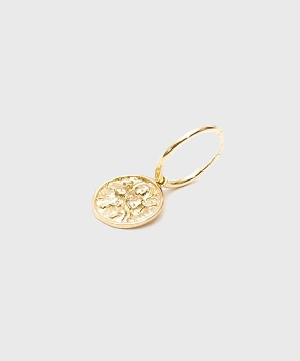 Gold Plated Silver St Christopher Earring