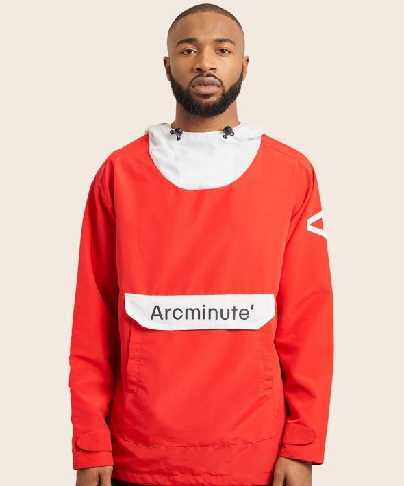 Arcminute Windbreaker Front Logo Red