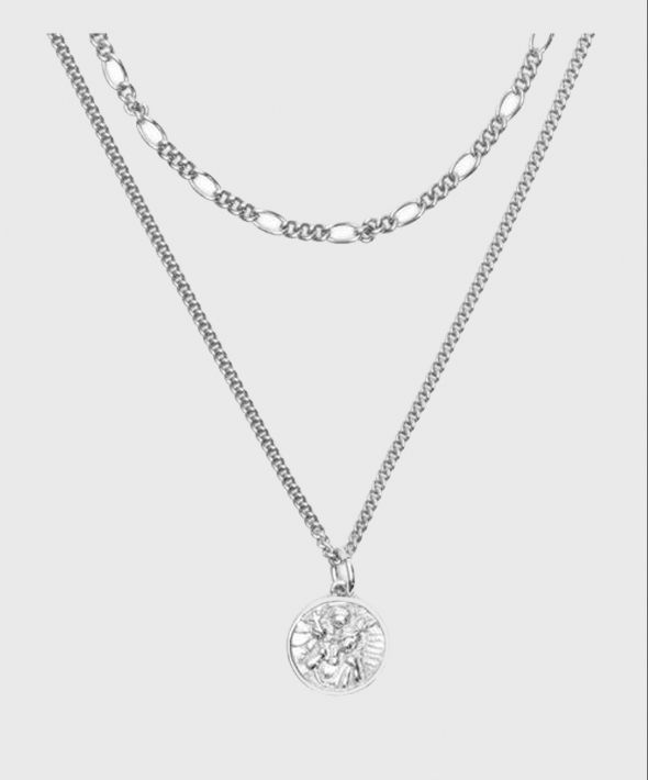 Silver St Christopher Multi Chain Necklace
