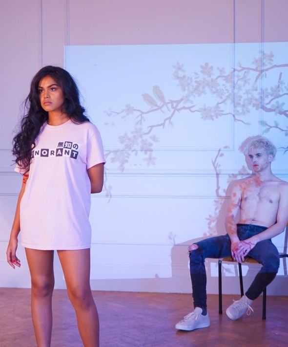 Ignorant T-shirt in Light Pink