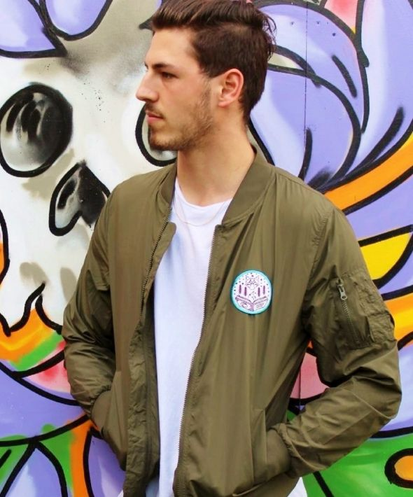 Wanderlust Lightweight Bomber Jacket in Khaki