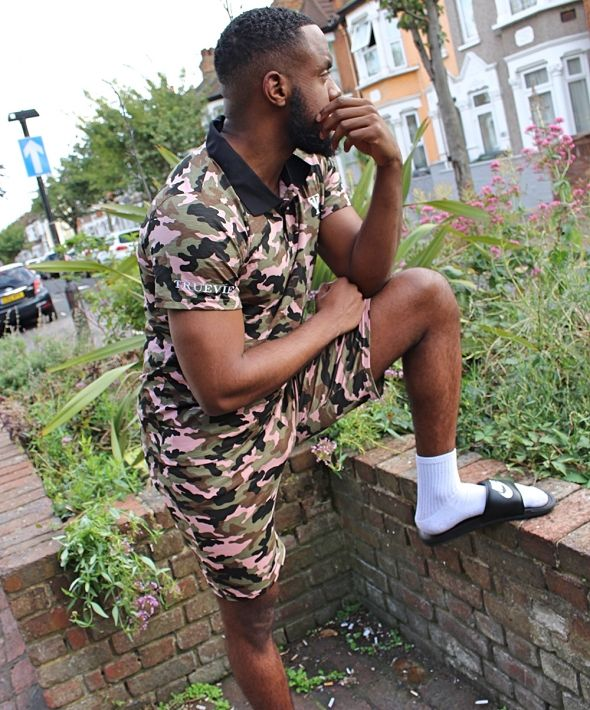 Camo Polo & Shorts Set
