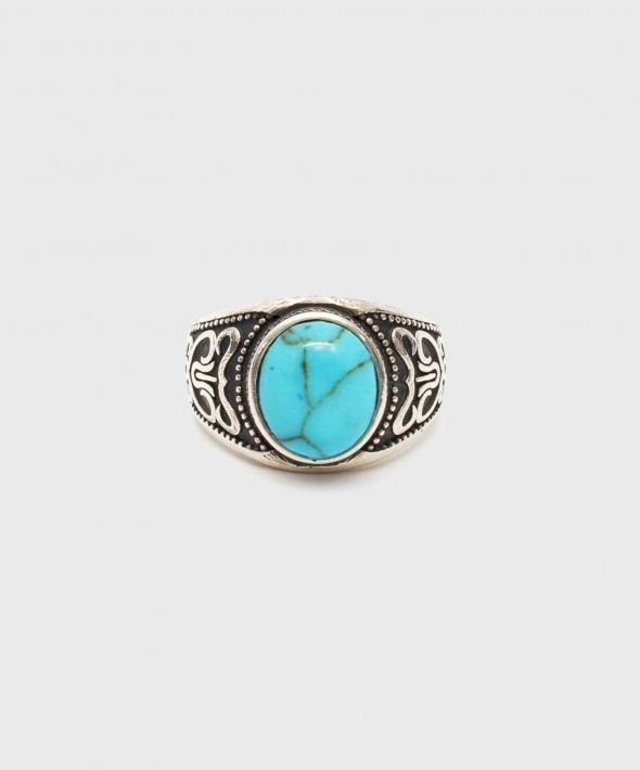 Silver Turquoise Stone Ring