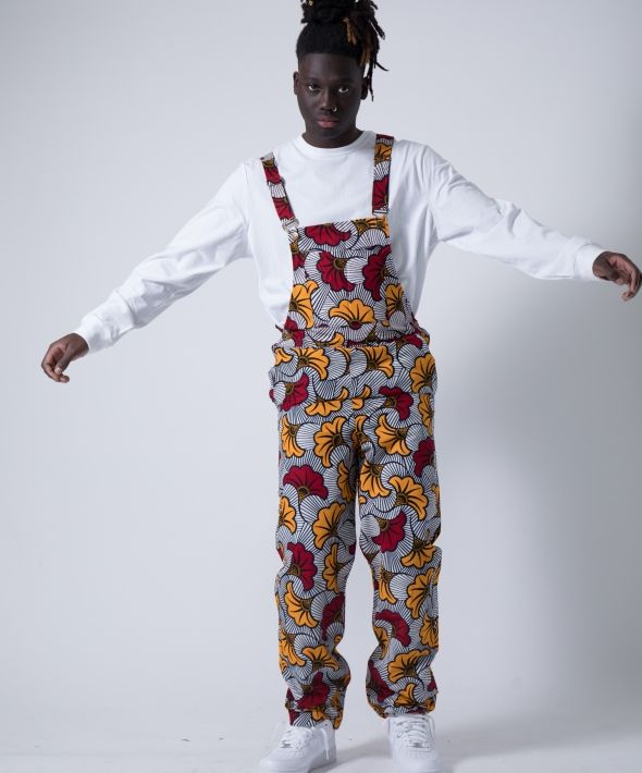 African Rose Dungarees