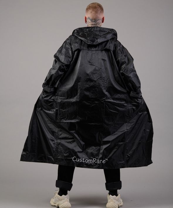 It's Raining Men Longline  Black Waterproof