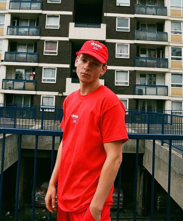 DBDNS Red T-shirt With Dream Sport Embroidered Logo