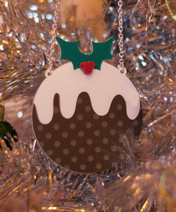 Luxury Christmas Pudding Statement Necklace
