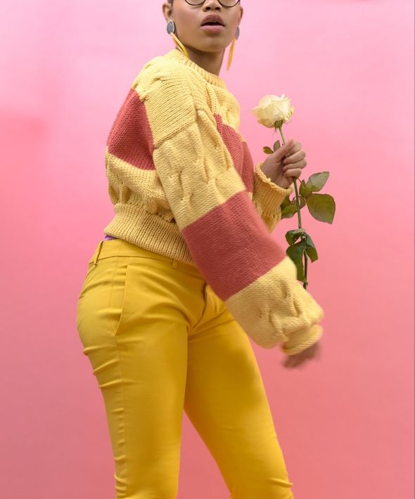 Harper Yellow and Hot Pink Jumper