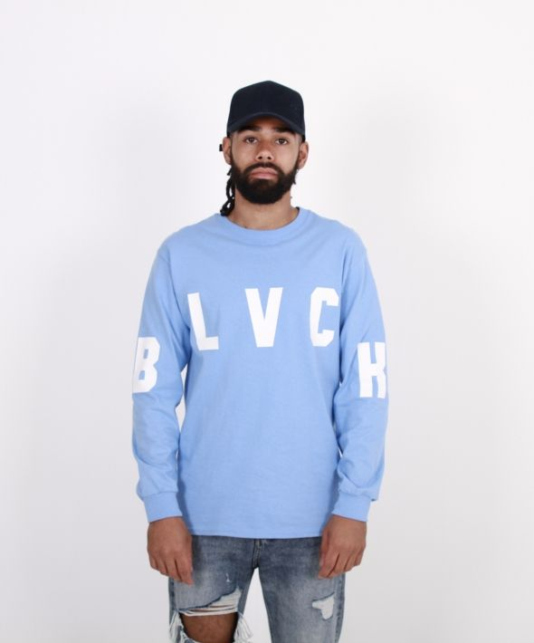 Cross Body Bae Blue Longsleeve Tee
