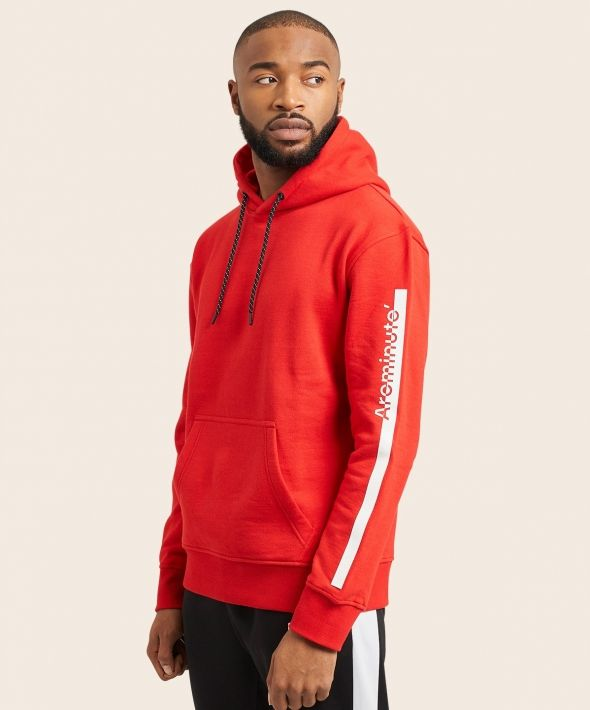 Arcminute Hoodie With Arm Logo Red