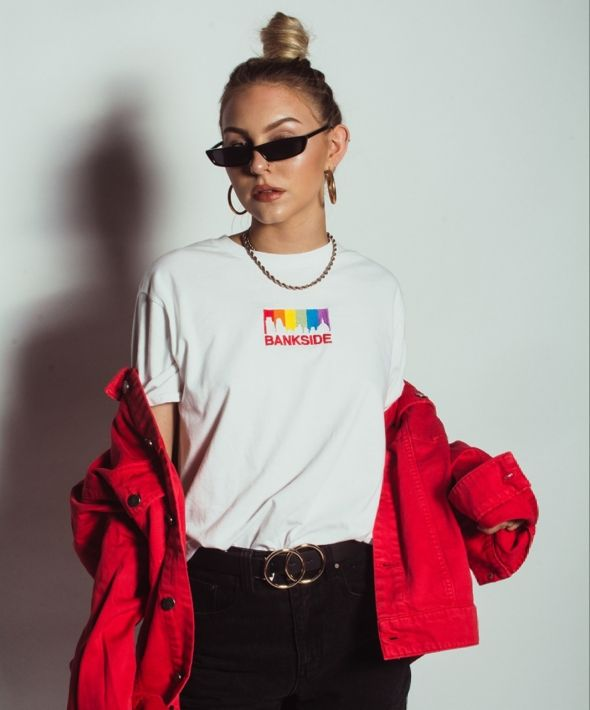 Embroidered Pride Skyline T-shirt