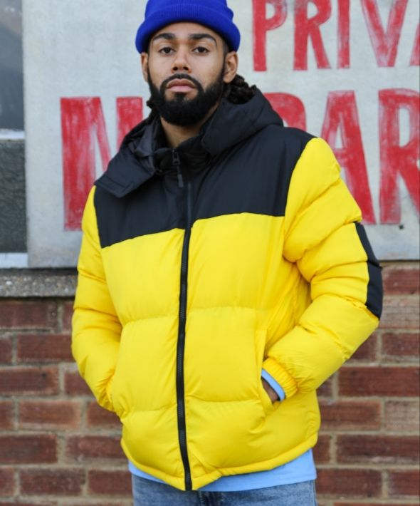Hooded Bright Yellow Puffer Jacket