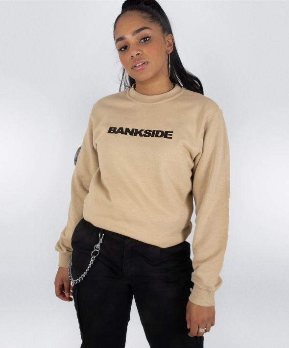 Sand 3D Logo Sweatshirt with Sleeve Detail