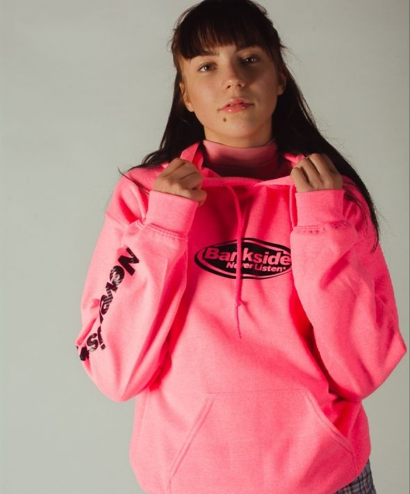 Neon Heavyweight Hoodie with Sleeve Print