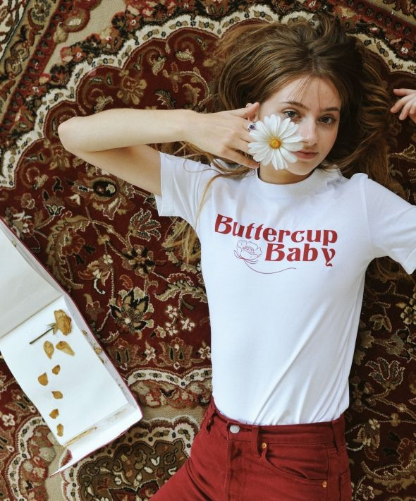 Buttercup Baby White Tee