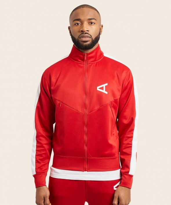 Arcminute Tracksuit Top With Arm Stripe Red