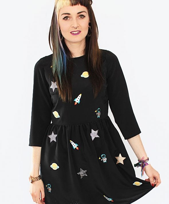 Space Embroidery Dress