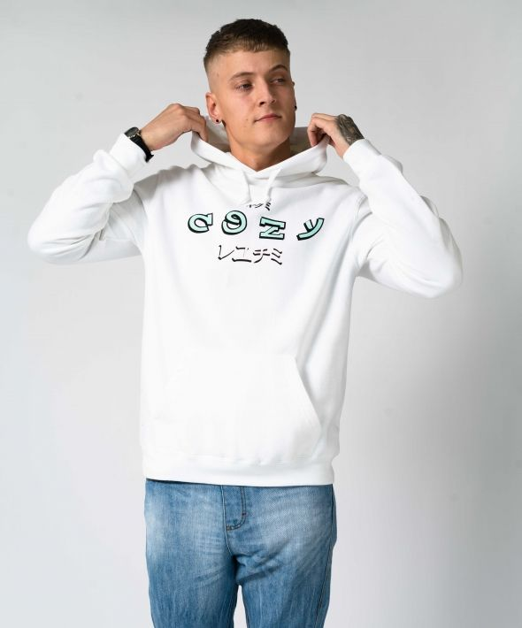 White Oversized The Cozy Life Hoodie