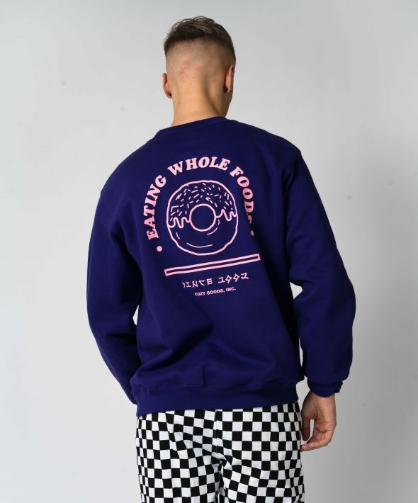 Purple Oversized Whole Foods Sweatshirt
