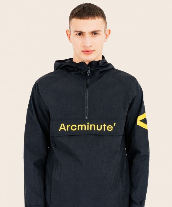 Solar Kagoule Black With Arcminute Logo